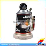 Decorative high quality stein decal beer mug with lid