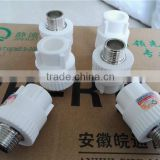 PPR pipe and fittings, coupling, male adaptor, female adaptor