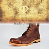 T.TOSCANA retro style genuine cow leather boots shoes for men