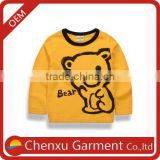 kids t shirt long sleeve ruffle shirt boy shirt autumn cute animal pattern printed t-shirts wholesale kids casual wear boys