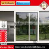 Hot sale residential lowes sliding aluminium doors making materials glass door elegant design