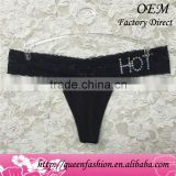 Lace sexy panties different sizes sexy transparent thongs shining character underwear with custom styles women