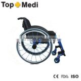 Topmedi Aluminum manual folded lightweight leisure basketball sport wheel chair prices top end rugby wheelchair