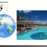 MB Cheap Glass Mosaic for Swimming Pool Tile Design Animal Pattern Mosaic Tiles