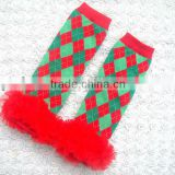 Christmas Design Leg Warmers With Matching Headband Set Toddler Kids Socks Newborn Leg Warmers