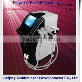 2013 laser tattoo removal slimming machine cavitation E-light+IPL+RF machine skin bleaching machine