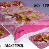 Raschel blanket heavy 100 polyester fleece blanket beddings