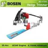 25.4cc Backpack Gasoline Hedge Trimmer with 750mm Single Blade