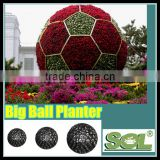 Outdoor round flower box large giant plastic ball shape planters flower pot artificial flower ball