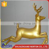 Hand made running bronze deer statue used for decor NTBH-049LI