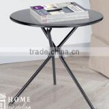 Hot saling small protable home&garden furniture cheap metal space saving folding side round dining/picnic/camping/coffee/ table