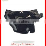 Stylsih Fancy adult woman hot lace on mesh Panty G-string two Set OEM Shantou underwear quality free sample