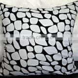 Black & white decorative pillow cover printed, cotton blend pillow, printed pillow, modern home decor, floor cushions