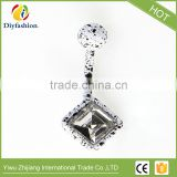 Fluorescence Surgical Trendy Stainless Steel Square Shape Belly Button Ring Sexy Body Piercing Jewelry