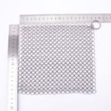 7*7 Inch Premium Stainless Steel Chainmail Scrubber,Cast Iron Cleaner