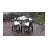 Luxury All Weather Resin Wicker Bar Set For Home Patio / Balcony