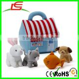 Plush rabbit cat fish dog My Little Pet Store Baby Playset
