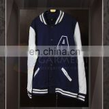 Tailor made High Quality Logo Printing Unisex zip up baseball jacket