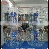 Hot selling inflatable blue bumper knock ball, belly bumper ball, inflatable bubble ball
