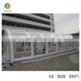 white pvc inflatable canvas tent, inflatable plato PVC canvas tent