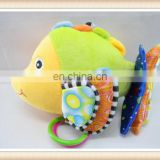 hot sell fish shape plush music baby bed bell
