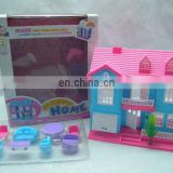 hot sell flashing light and music plastic b/o villa toys
