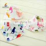 Fashion Wholesale Good Quality Baby Double Cotton Bibs Bandana
