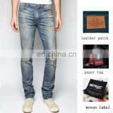 Classic denim jeans pants your own brand jeans men bogart slim fit rolling stone wash jeans oem & odm manufacturer