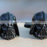 Fashion jewelry zinc alloy custom black darth vader cufflink manufacturer