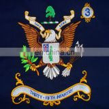 home decoration fashion custom eagle polyester embroidery flag