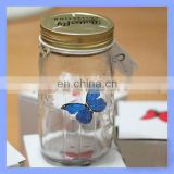 New Arrival Butterfly Glass Jar with Tap for Gifts