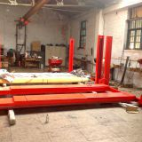 low cost manual lock release 4 post car lift 4000kgs/1800mm