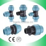 new product blue black PP hdpe compression fitting