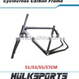 Wholesale Chinese cyclocross bike frames BB30 carbon road bike frame V-brake cyclocross carbon frame