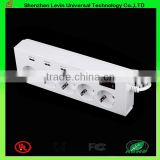 Manufacturer CE Cheap Extension Power Plug 6Gang 4 Port USB European Multi function Socket