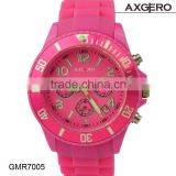 Fashion rubber watches, cool big face, girls colorful watch