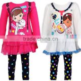 Whole Brand Children clothes suit Doc McStuffins Two-Piece Pullover Pant Autumn & Winter Girls clothing Set