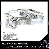 Fashion ring with big stone 925 silver material couple love band rings cheap wedding ring for unisex gender