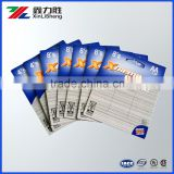 CUSTOMIZED PRINTED DOUBLE SIDE PRINTED BLISTER BACK CARD