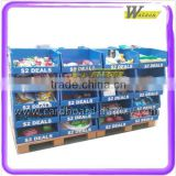good quality supermarket chain store paper cardboard pallet display for daily necessities
