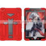 Dragonfly Design With Stand Holder Heavy Duty TPU PC Armor Hybrid Shockproof Protective Phone Cover Case For iPad Mini 4 TB-0269