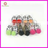 Girl's Baby Infant Crib Shoe Booties Animal Print with Rosette