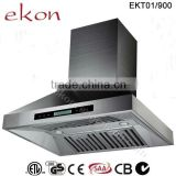 ETL CB SAA Approved 36'' Twin Motors Wall Mount Stainless Steel Copper Kitchen Hood