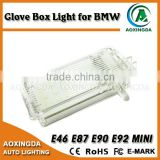 LED glove box light for BMW E46 (2D 3D 4D 5D)/E53/X5/E81/E82/E83/X3/E90/E90/R50/R52/R53 7000K pure white led glove box light