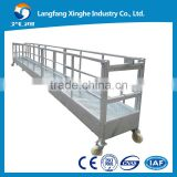 Hot galvanized zlp suspended working platform / suspended cradle for building facade cleaning