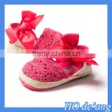 HOGIFT Spring yellow pink white baby sandals, bow baby shoes