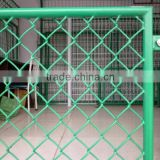 Woven Chain link galvanized pvc frame fence can be used with as prison sperate fence