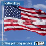 Long Life Polyester Printed blue white green flag
