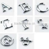 ABS 3D chrome car auto letter emblem, auto letter, truck letter number                                                                         Quality Choice