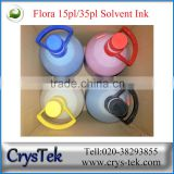 CRYSTEK Flora solvent ink for Spectra polaris 512 15pl / 35pl print heads digital printer